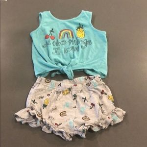 Jessica Simpson Girls shorts/tank set